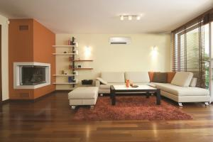 Living room with a mini split air conditioner from Clarkstown