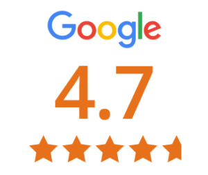 google review score 4.7 out of 5